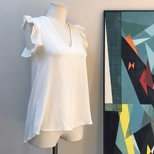 H&M soft white blouse
